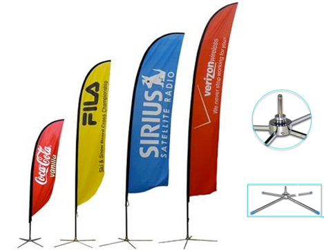 Download Bandera - 16ft Feather Custom Flag Banners Spike
