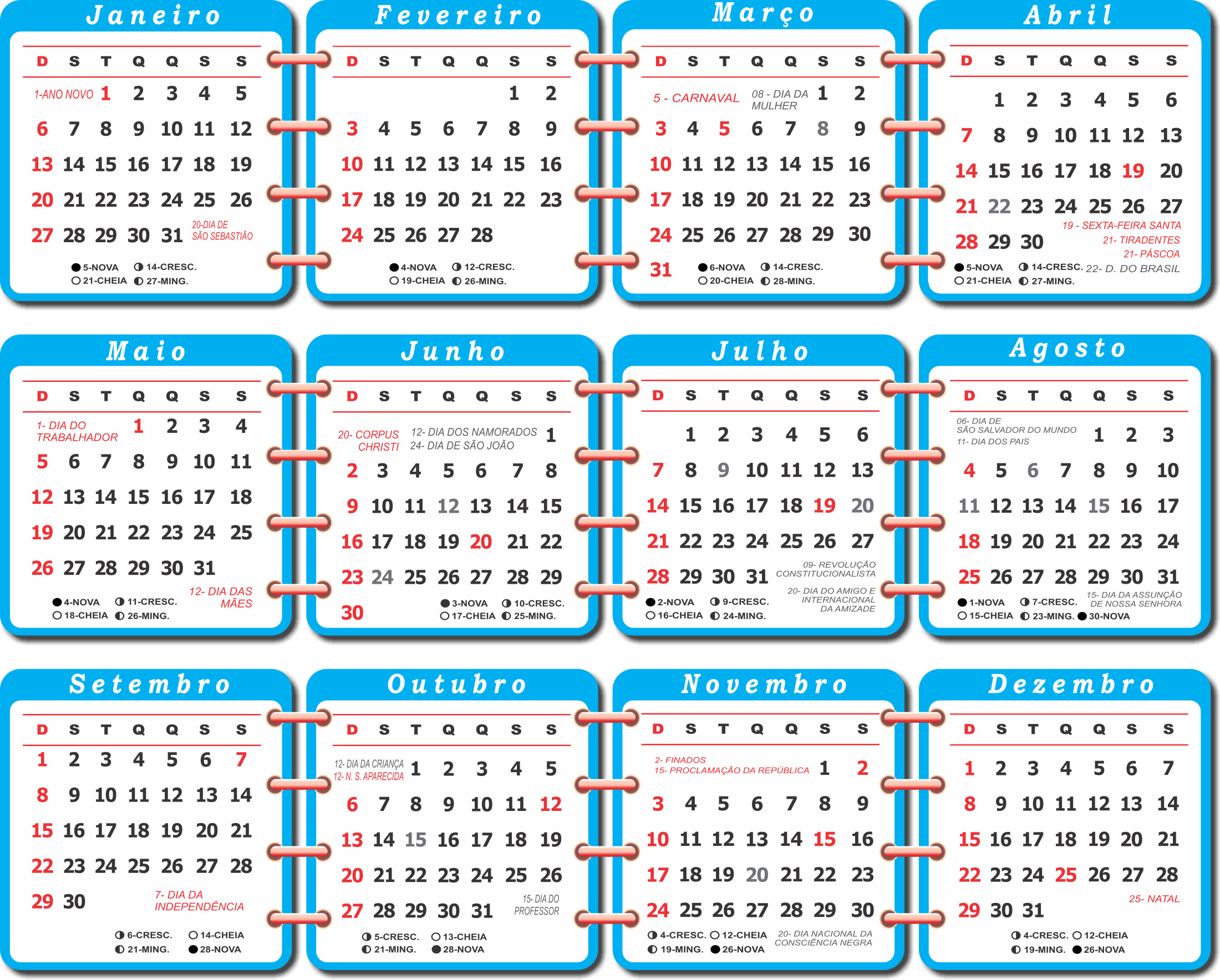 Calendario 206.Download Base Calenda Rio 2019 Azul Calendario 2019 Com