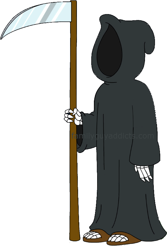 Frankenstein Transparent Family Guy Jpg Black And White - Family Guy Death Png (584x853), Png Download