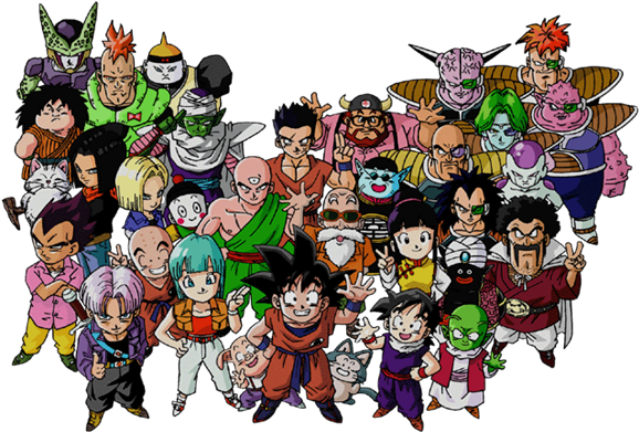 Dragon Ball Z Characters Png Image - Dragon Ball Z (581x400), Png Download