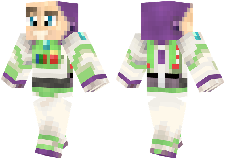 Buzz Lightyear - Woody Toy Story Minecraft Skin (804x576), Png Download