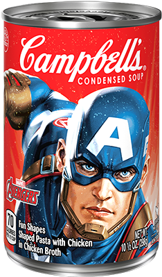 Marvel Avengers Soup Captain America - Campbell's Condensed Soup, Golden Mushroom - 10.75 (400x400), Png Download