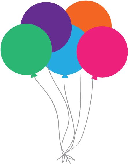 Birthday Balloons Clipart No Background All About Clipart