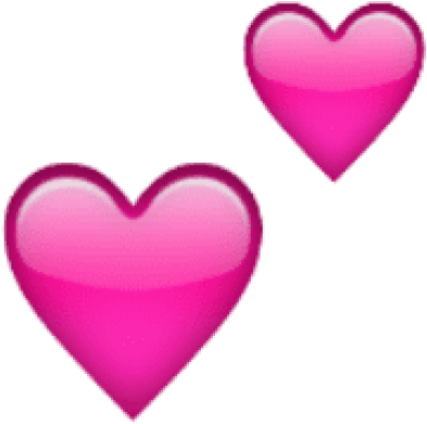 Free Png Ios Emoji Two Hearts Png Images Transparent - 2 Pink Hearts Emoji (480x502), Png Download