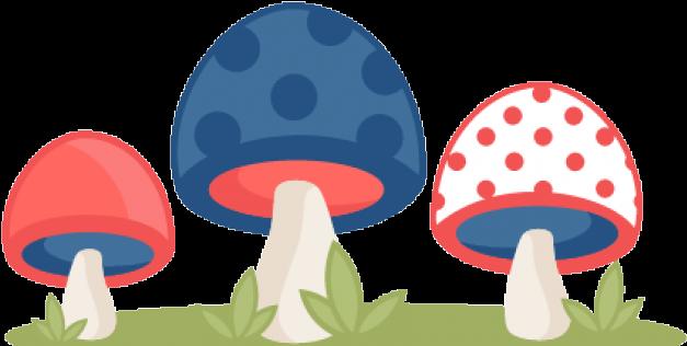 Mushroom Clipart Polka Dot - Cute Free Clipart Mushrooms (640x480), Png Download