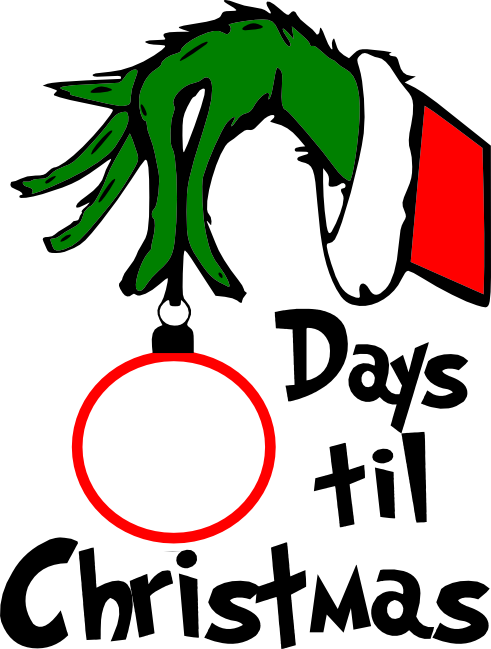 Grinch Face Png For Vinyl On Crocut Vector Transparent - Grinch Countdown To Christmas (491x649), Png Download