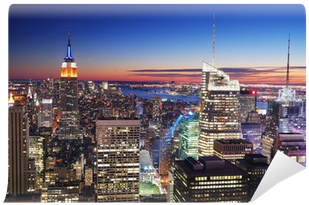 New York City Manhattan Empire State Building And Times - New York City (400x400), Png Download