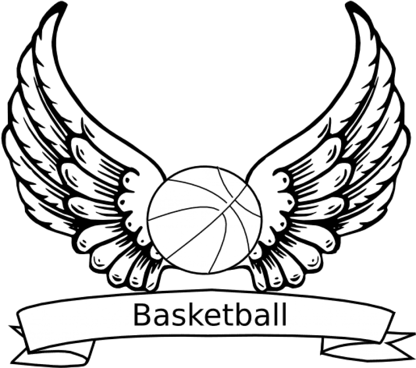 Vector Library Download Coloring Pages To Print Zendoodling - Cool Basketball Coloring Pages (600x538), Png Download