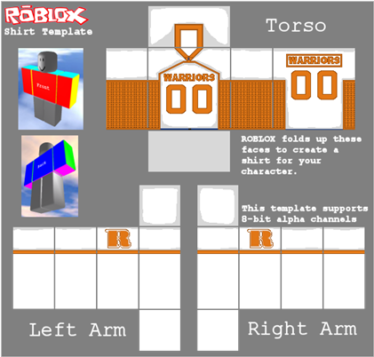 Download Roblox Warriors Football Jersey - Roblox Bandages Shirt