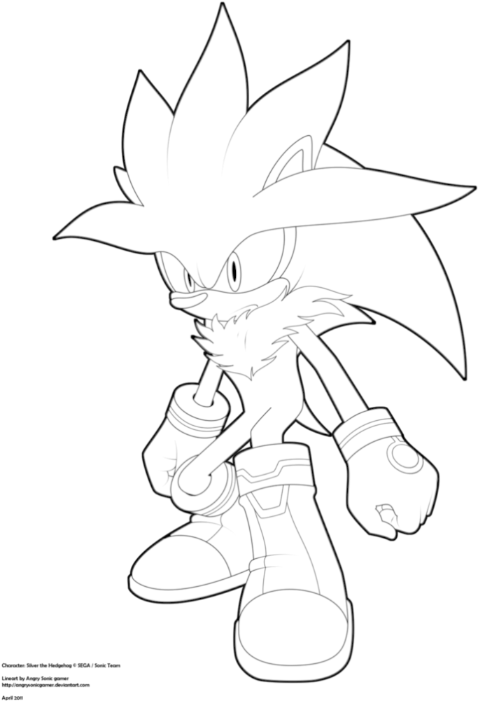 Download 44 Super Sonic Coloring Pages To Endearing Enchanting - Silver The  Hedgehog Drawing PNG Image With No Background - PNGkey.com