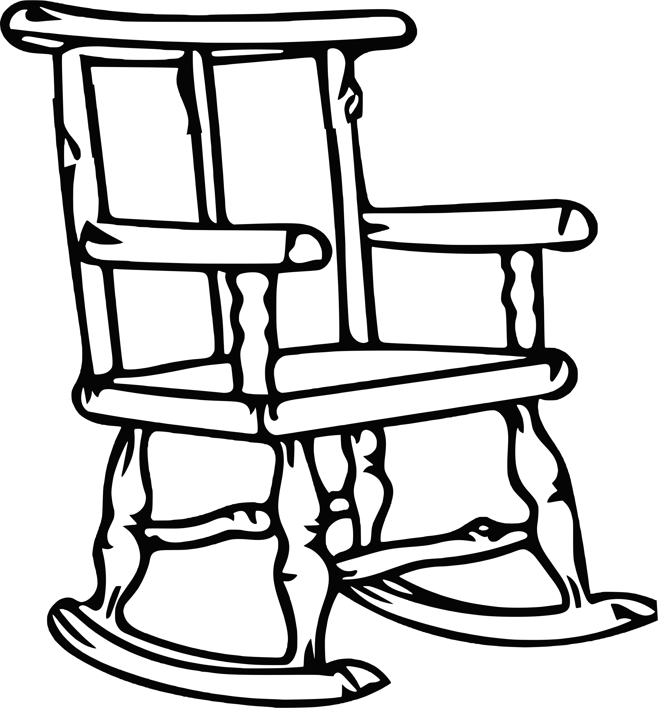 Picture of: Download Clipart Transparent Stock Clipart Outline Big Image Rocking Chair Outline Png Image With No Background Pngkey Com