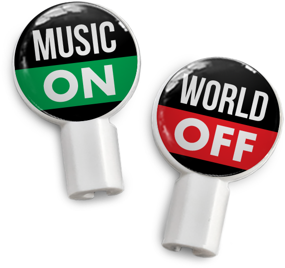Pair Of Apple Earbud Covers - Music (600x600), Png Download