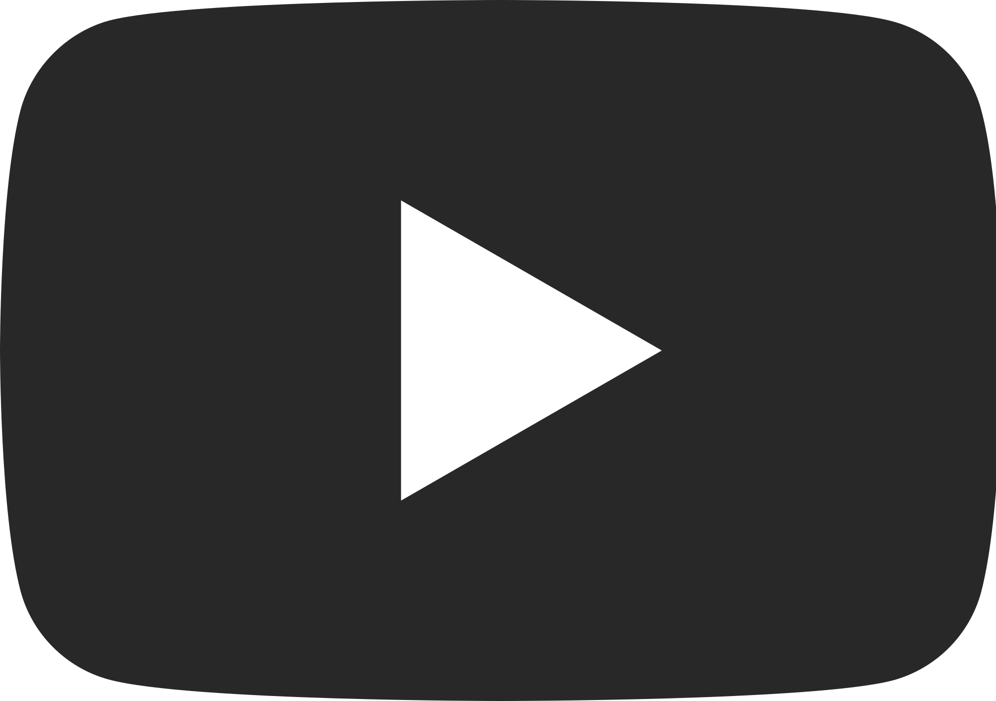 Youtube Free Download On Mbtskoudsalg Png Youtube Logo - Youtube Black Logo Png (2000x1408), Png Download
