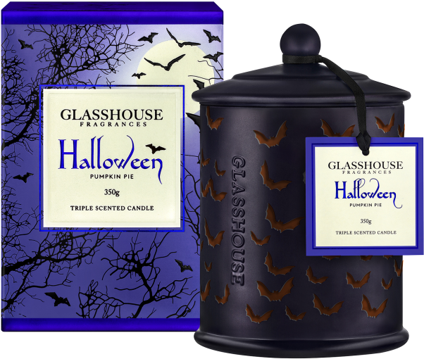 2018 Limited Edition Halloween Pumpkin Pie 350g Scented - Pumpkin Pie Glasshouse Candle (832x750), Png Download