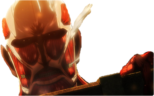 Download Transparent Colossal Titan By Jordanalice D6lo9ld Colossal Titan Looking Over The Wall Png Image With No Background Pngkey Com