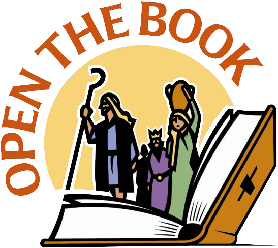 Stories Clipart Opened Book - Open The Book (626x620), Png Download