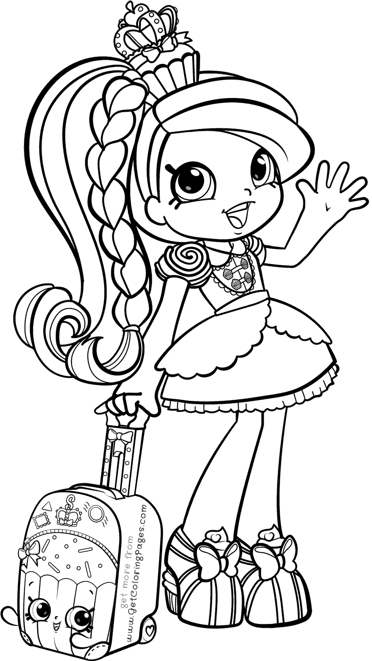 Download World Vacation Shoppies Coloring Pages Shopkin Girl