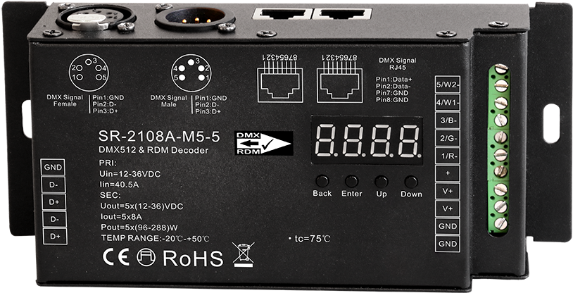 Download 16bit Dmx Pwm Decoder For Stage Lights, View