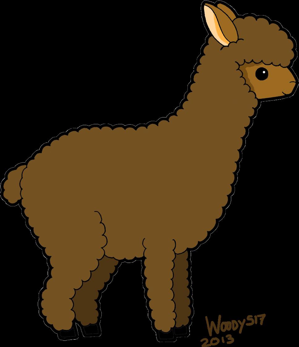 Картинка альпака на белом фоне