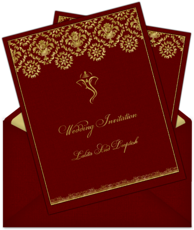 Download Letter Style Email Indian Wedding Card Design 72 Hindu