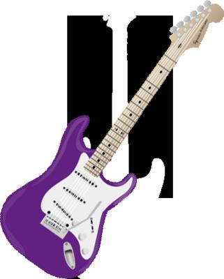 Download Mor Gitar Psd Desenho De Guitarra Roxa Png Image With