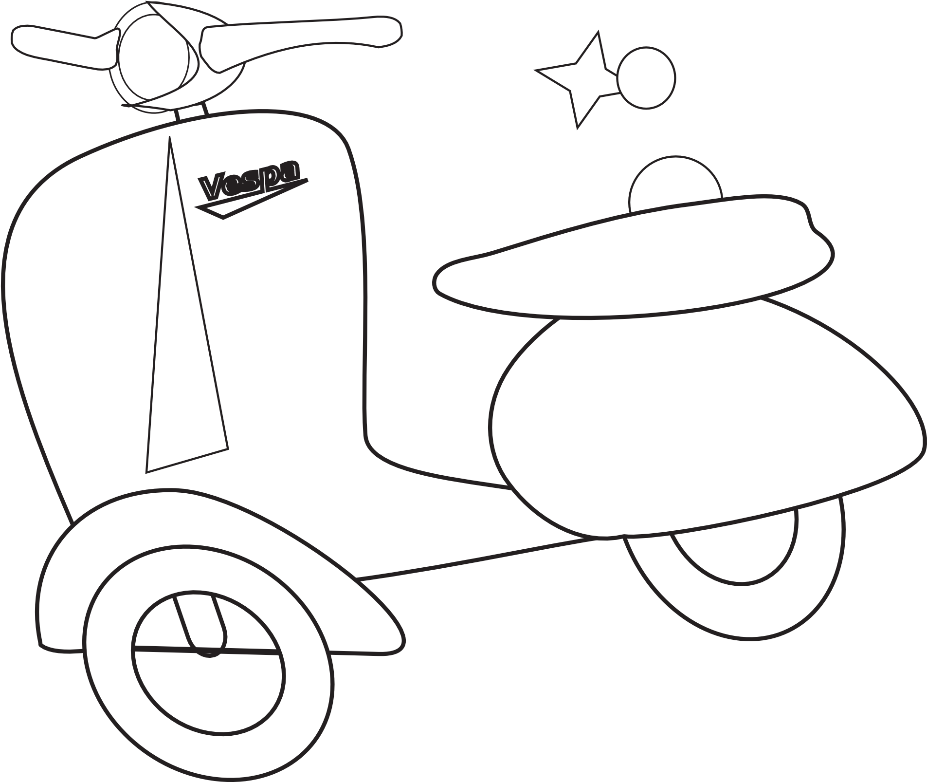 Download Clip Art Vespa Black White Line Art Coloring Line Art Vespa White Png Image With No Background Pngkey Com