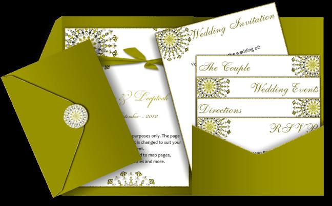 Download Pocket Style Email Indian Wedding Invitation Card Design