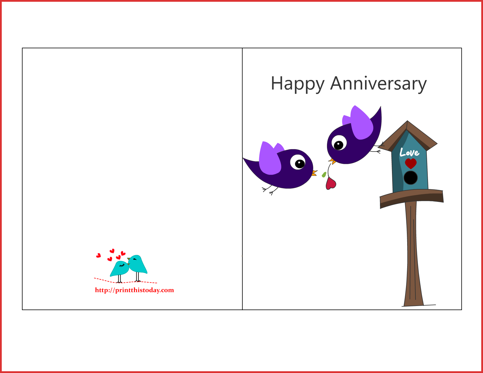 image about Happy Anniversary Printable Card named Down load Delighted Wedding day Anniversary Card Template Fresh new