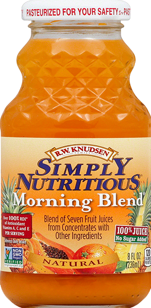 Morning Blend® - Rw Knudsen Simply Nutritious Juice Morning Blend (300x613), Png Download