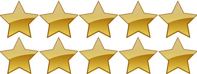 Download Ten Gold Stars - 10 Stars PNG Image with No Background - PNGkey.com