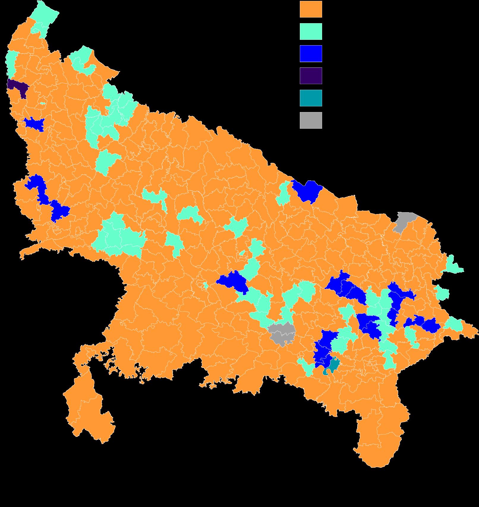Uttar Pradesh Election Results - Up Election 2017 Result (1748x1832), Png Download