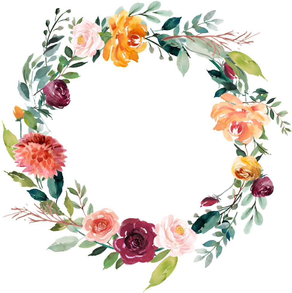 This Graphics Is Garland Vector About Watercolor,flowers - Floral Bridal Shower Decor (1024x1001), Png Download