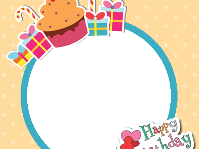 Happy Birthday Wishes With Photo Frame (640x480), Png Download