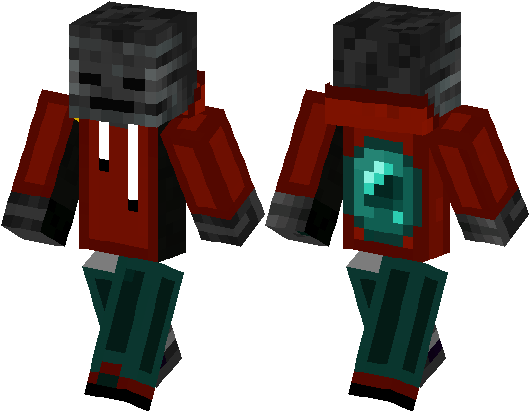Download Wither Skeleton Guy With Ender Pearl Cape