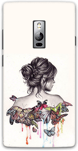 Download Butterfly Girl Oneplus 2 Mobile Case - Mi Y2 Mobile