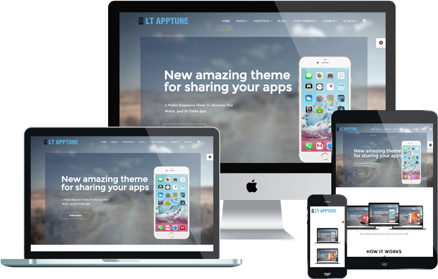 Lt Apptune Joomla Template Responsive - Responsive Web Design (1000x750), Png Download