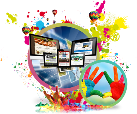 Web Creativity Design Service - Web And Graphics Design (499x385), Png Download