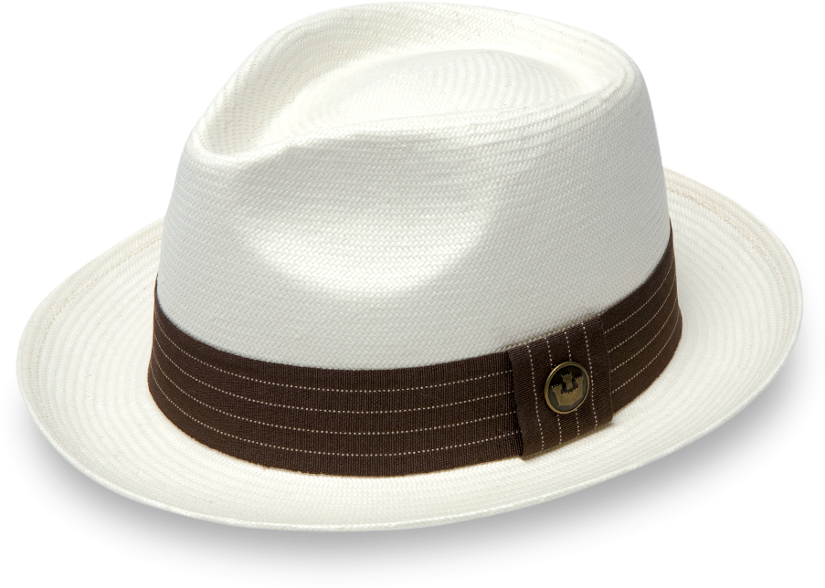 Download Snare White Straw Fedora Hat Fedora Png Image With No
