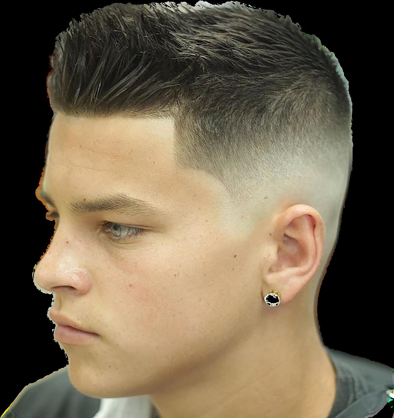 download men - mens skin fade haircut 2018 png image with no