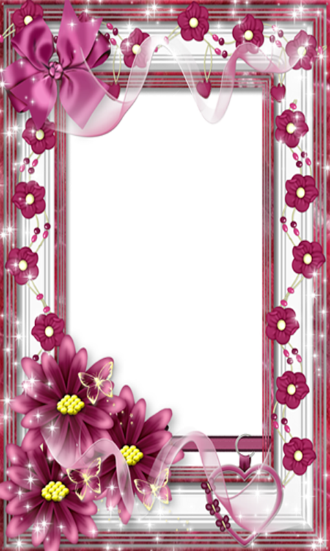 Beautiful Flowers Photo Frames (480x800), Png Download
