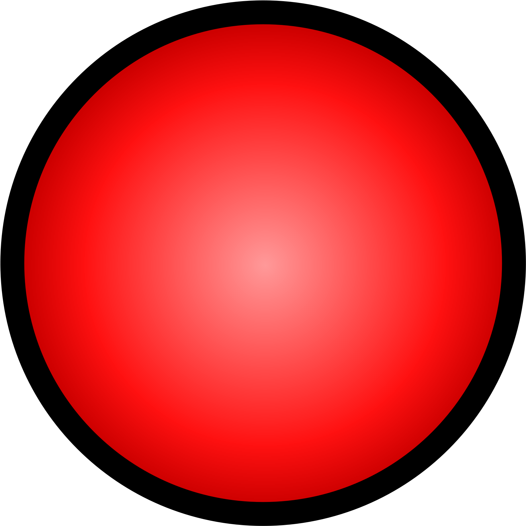 Open - Red Circle Black Outline (2000x2000), Png Download