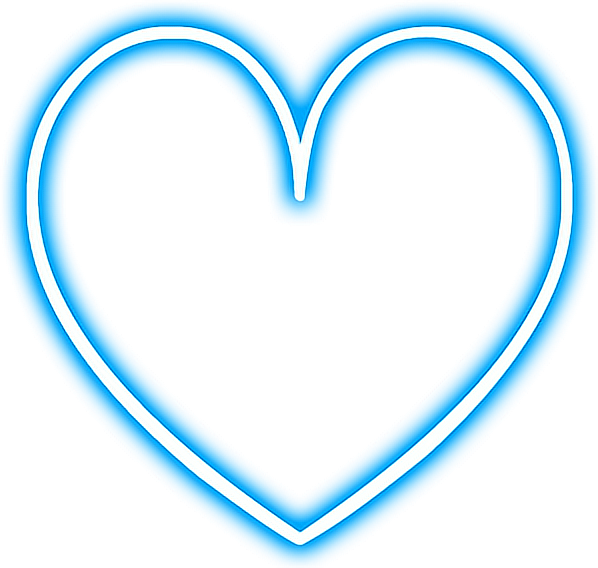 Download Heart Love Neon Snapchat Blue Glowing Png Library Moldura Coracao Azul Png Png Image With No Background Pngkey Com