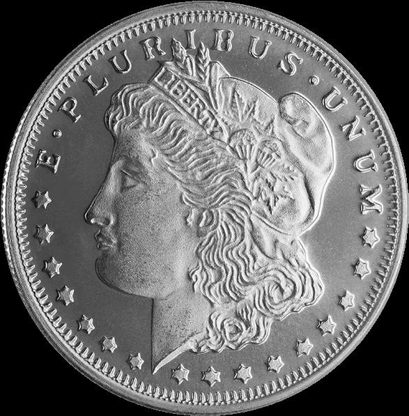 1/2 Oz Silver Round Morgan - Top 10 Morgan Silver Rounds (600x600), Png Download