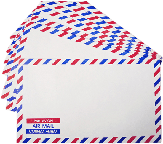 Download Air Mail Envelopes - Airmail Envelope PNG Image with No Background  - PNGkey.com