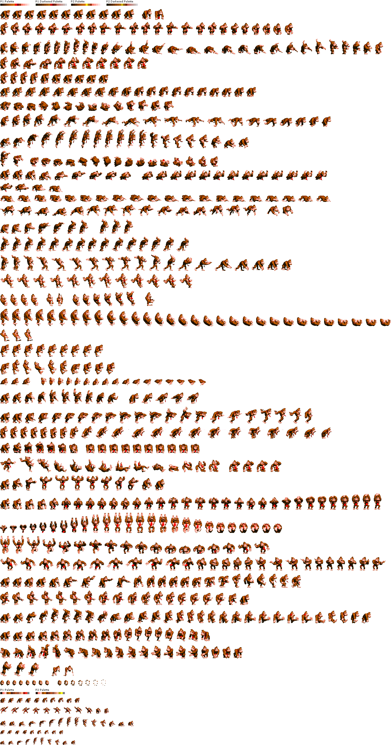 Download Donkey Kong Sprite Sheet Tan Png Image With No Background