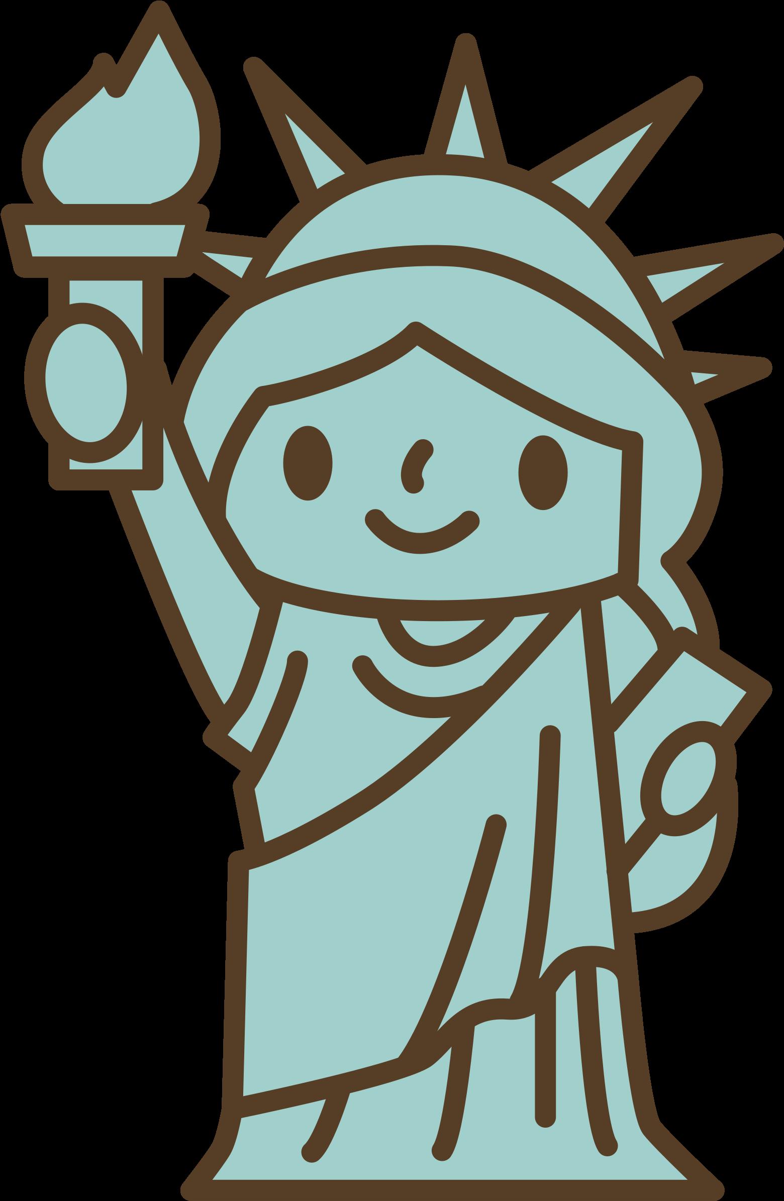 Big Image - Dibujos De La Estatua De La Libertad (1583x2400), Png Download
