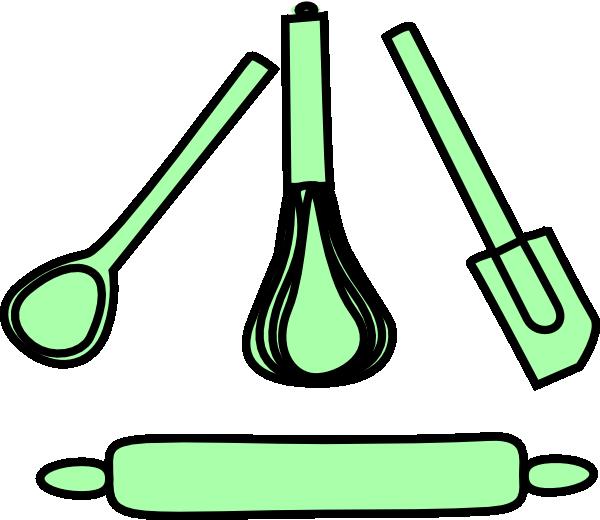 Download Bakery Utensils Pastel Green Clip Art Utensilio De