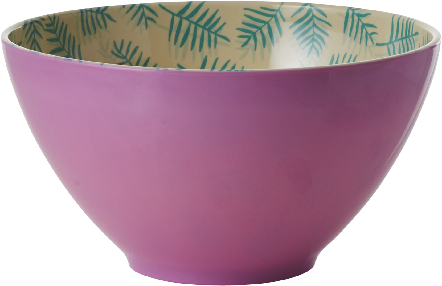 Rice Two Tone Melamine Palm Leaves Salad Bowl (2000x2000), Png Download