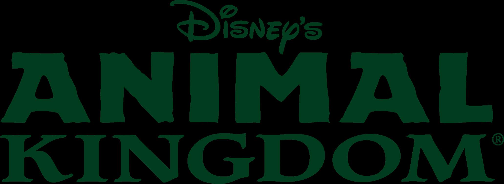 Disney's Animal Kingdom Wordmark - Disney World Animal Kingdom Logo (2062x754), Png Download