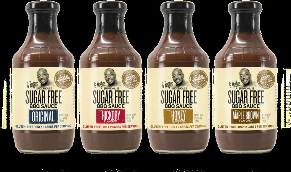 Ghughes Bbq 44 - G Hughes Sugar Free Bbq Sauce Original (1500x844), Png Download